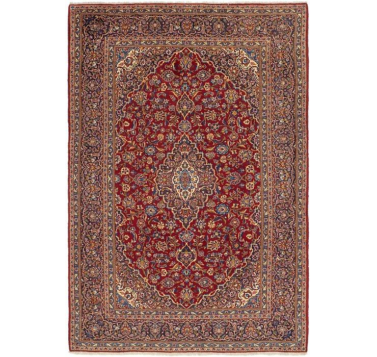 7' 8 x 11' 3 Kashan Persian Rug