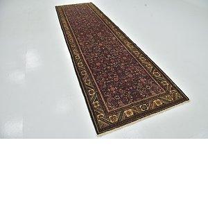 Unique Loom 3' 9 x 13' Hossainabad Persian Run...