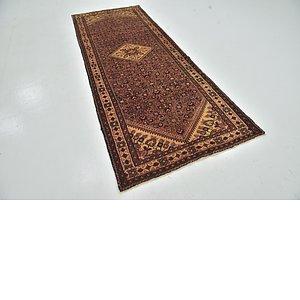 Unique Loom 3' 9 x 9' 6 Hossainabad Persian Run...