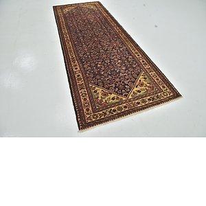 Unique Loom 3' 10 x 10' Hossainabad Persian Run...