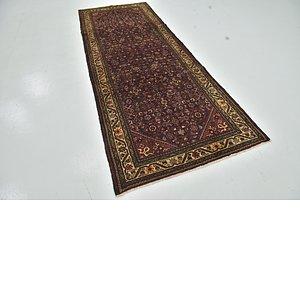 Unique Loom 3' 10 x 10' 4 Hossainabad Persian Run...