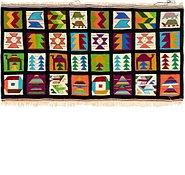 Link to 3' x 5' 8 Kilim Fars Rug