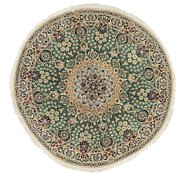 Link to 137cm x 137cm Nain Persian Round Rug