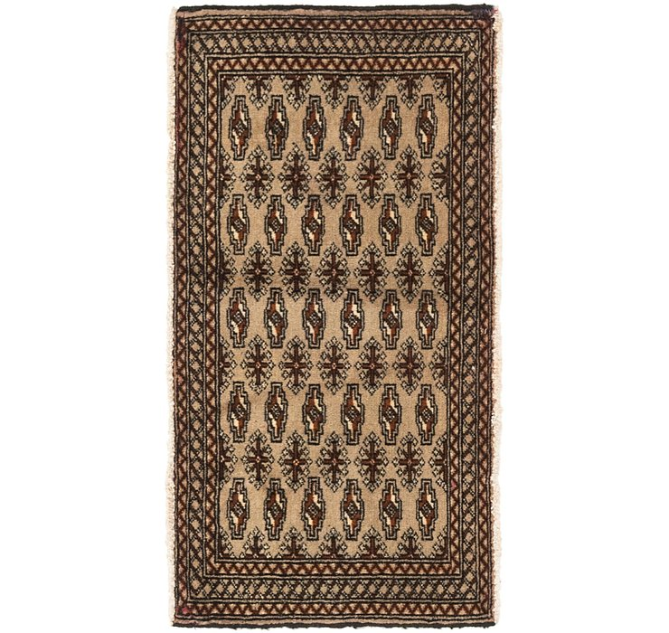 53cm x 100cm Torkaman Persian Rug