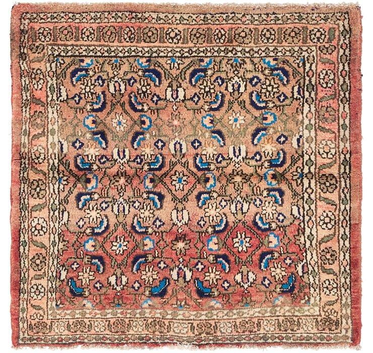 3' 6 x 3' 8 Hamedan Persian Square ...