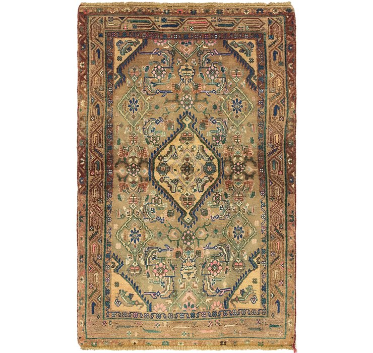 3' 5 x 5' 4 Hamedan Persian Rug