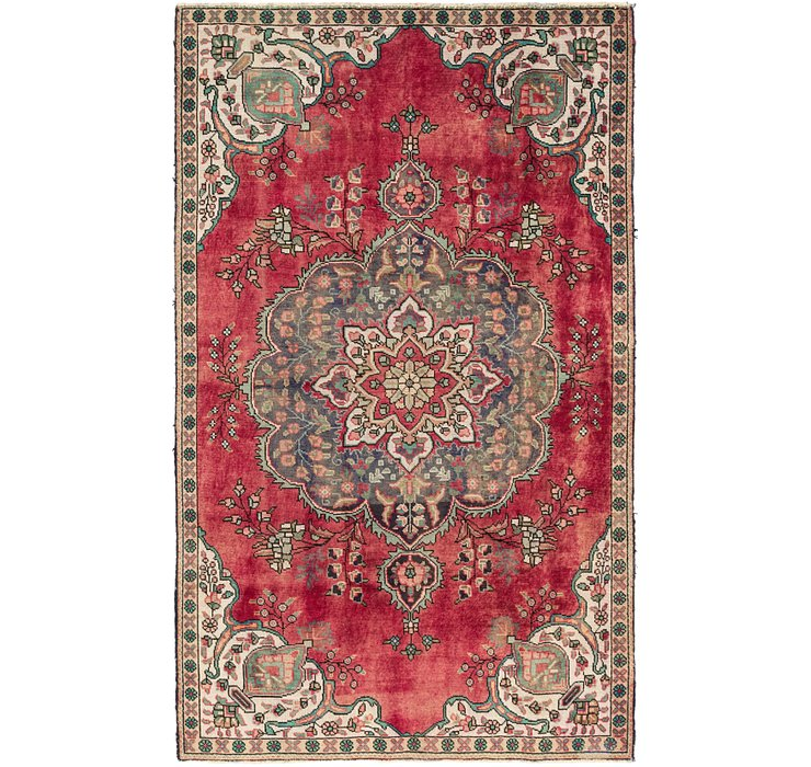 4' 9 x 7' 10 Tabriz Persian Rug