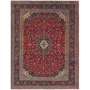 Link to 9' 10 x 13' Kashan Persian Rug page