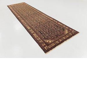 Unique Loom 3' 8 x 13' 6 Hossainabad Persian Run...