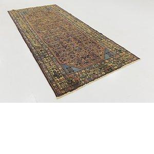 Unique Loom 4' 5 x 10' Hossainabad Persian Run...