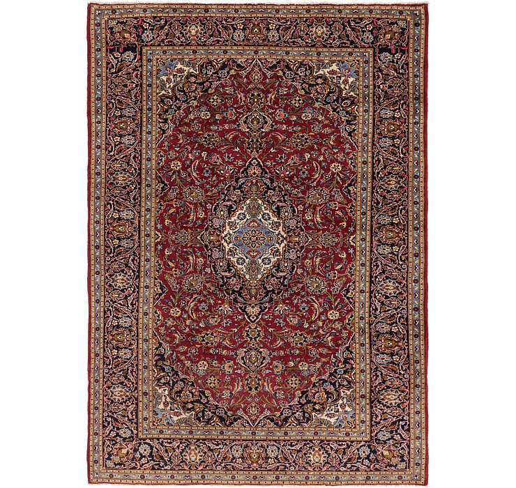 8' 7 x 12' 3 Kashan Persian Rug