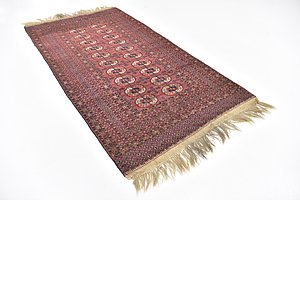 HandKnotted 4' x 7' 8 Bokhara Oriental Rug