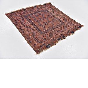 4' x 4' 3 Sirjan Persian Square Rug