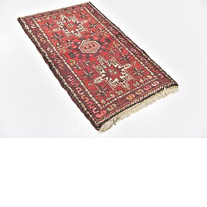HandKnotted 2' 5 x 4' Gharajeh Persian Rug