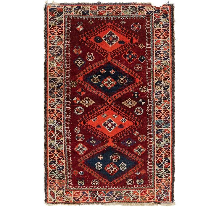 3' 8 x 6' Ghashghaei Persian Rug