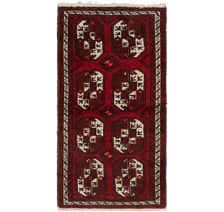 100cm x 193cm Afghan Akhche Runner Rug