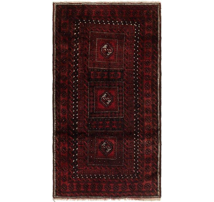 3' 4 x 6' 3 Balouch Persian Rug
