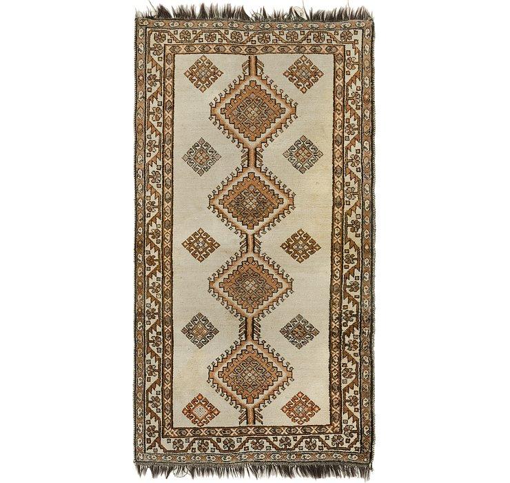 3' 7 x 6' 10 Shiraz-Gabbeh Persian Rug