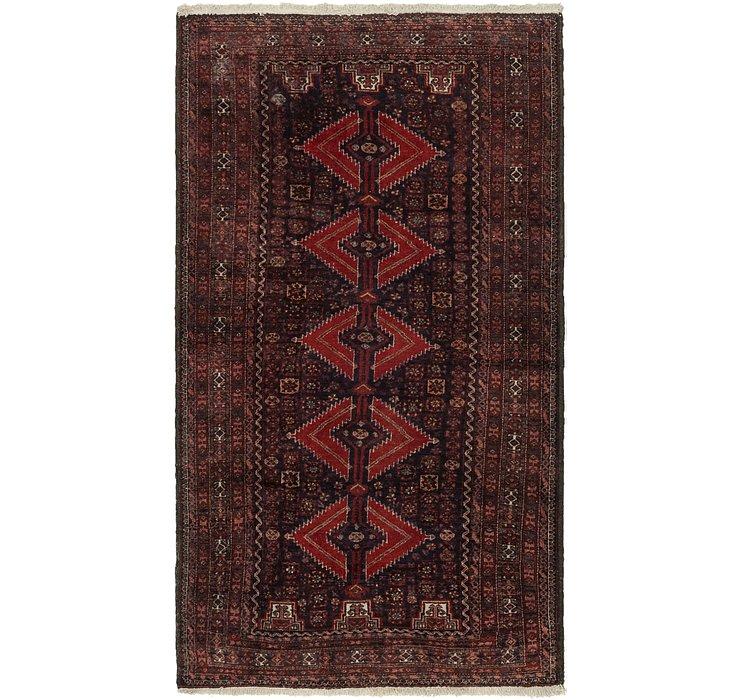 3' 9 x 6' 9 Balouch Persian Rug