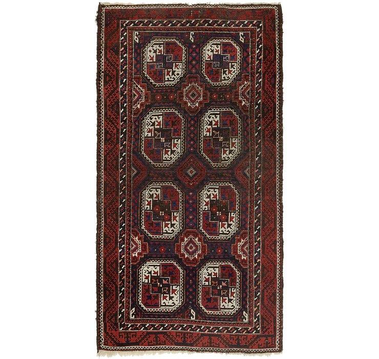 3' 5 x 6' 8 Balouch Persian Rug