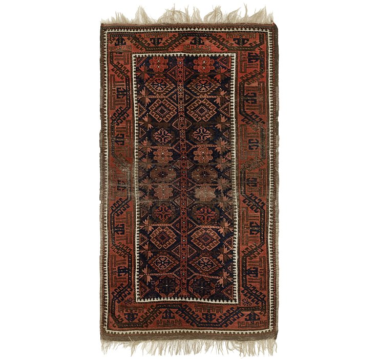 3' 3 x 6' Shiraz Persian Rug