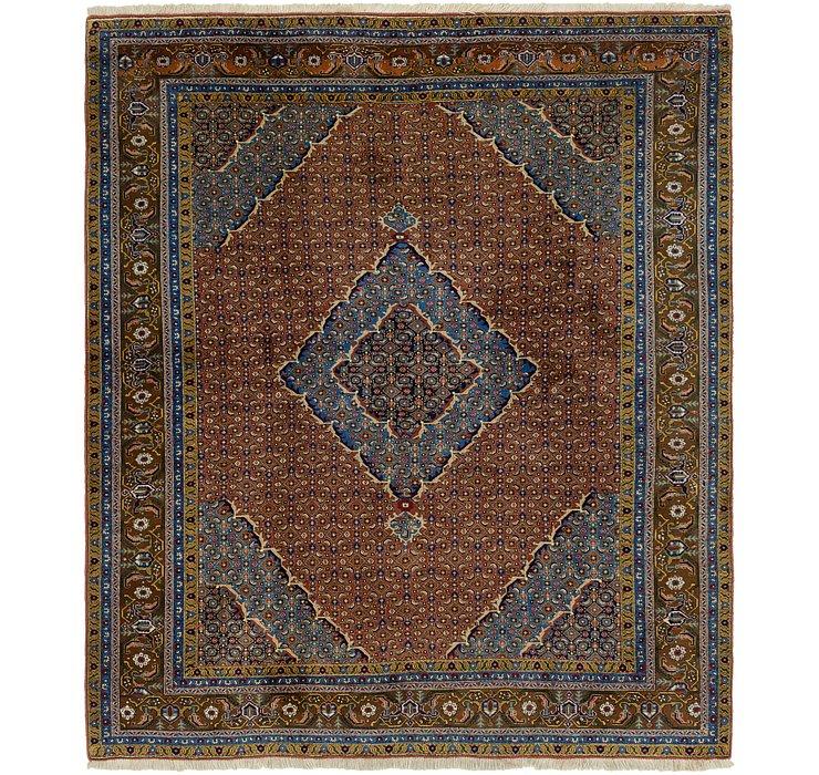 6' 8 x 8' Tabriz Persian Square Rug