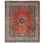 Link to 213cm x 255cm Sarough Persian Square Rug