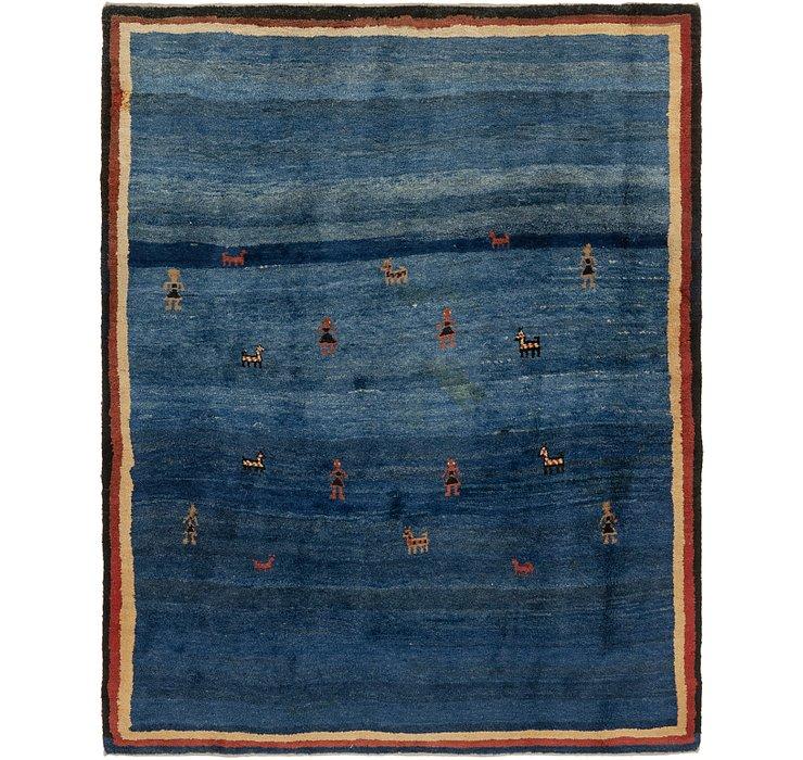 7' x 8' 10 Shiraz-Gabbeh Persian Rug