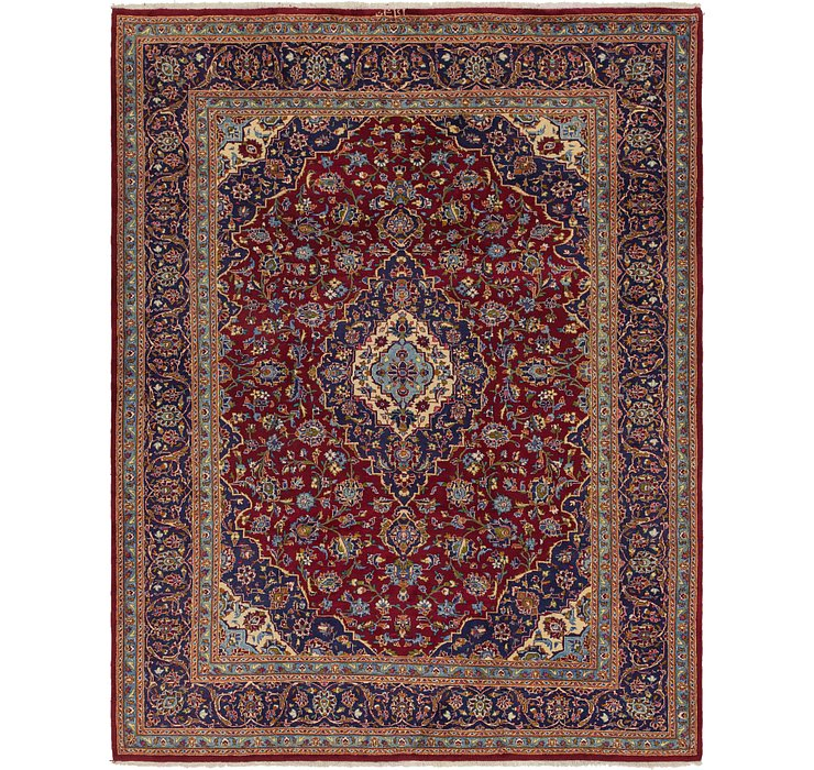 8' 5 x 11' Kashan Persian Rug