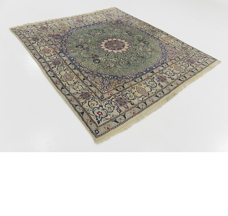 6' 5 x 6' 8 Nain Persian Square Rug