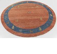 Link to 6' 6 x 6' 7 Shiraz-Gabbeh Persian Round Rug