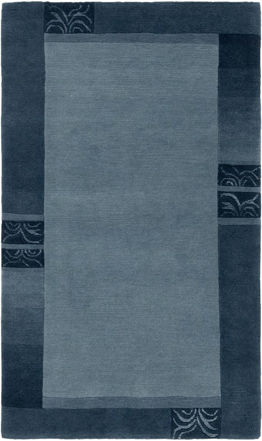Light Blue Handknotted 3 X 5 3 Nepal Rug Oriental Rugs Rugs Com