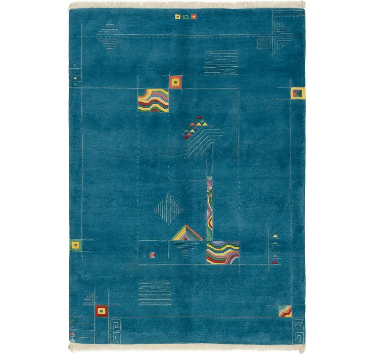 HandKnotted 5' 8 x 8' Nepal Rug