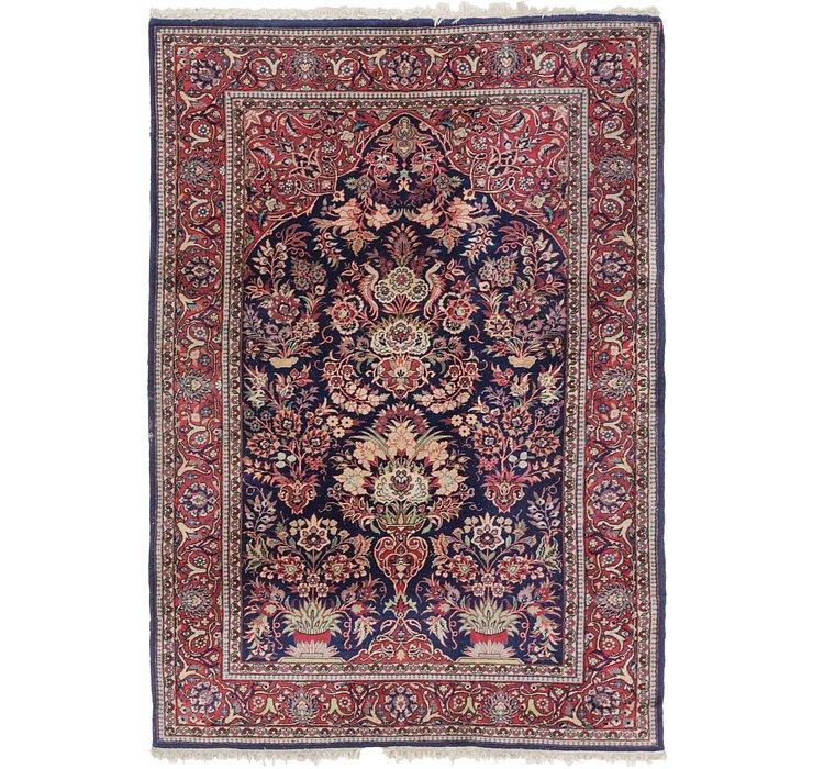 4' 5 x 6' 7 Kashan Persian Rug