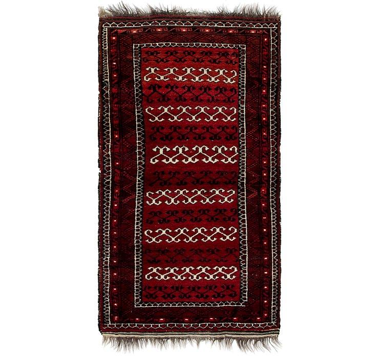 2' 8 x 5' 6 Afghan Akhche Rug