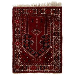 2' 8 x 3' 7 Afghan Akhche Rug