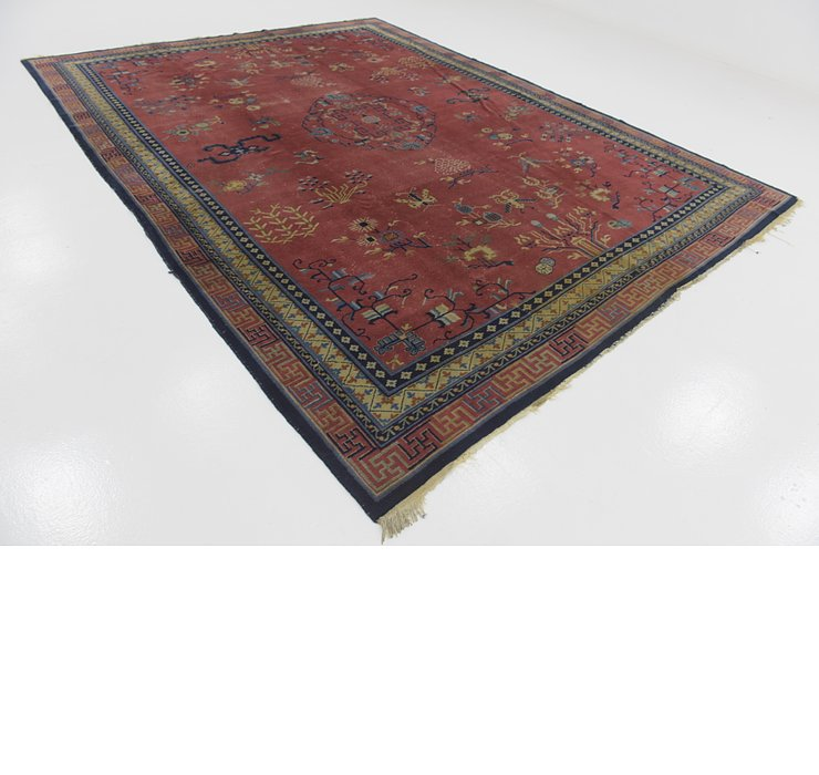 9' 4 x 12' 3 Antique Finish Rug