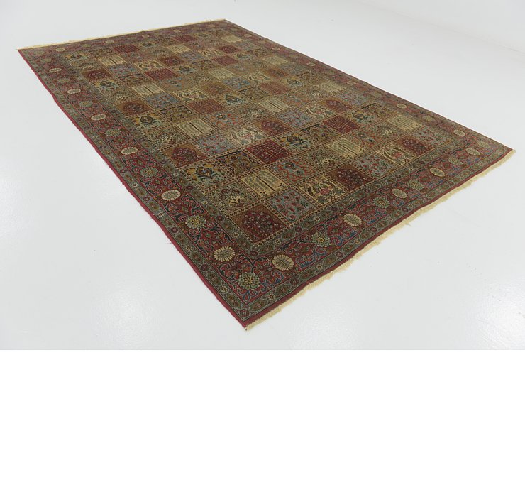 7' 4 x 11' Sarough Persian Rug
