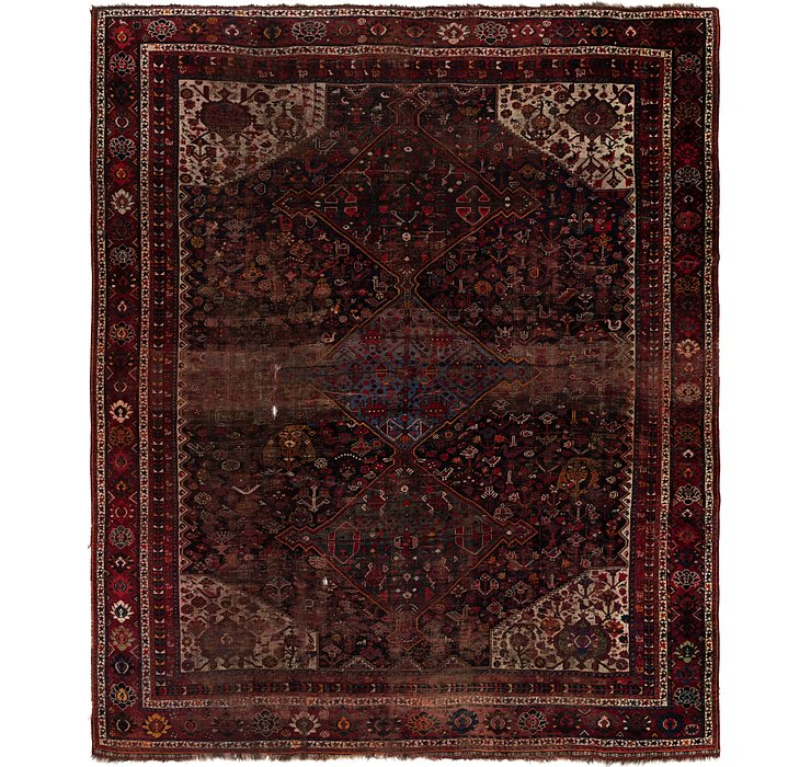 10' 4 x 12' 7 Shiraz Persian Rug