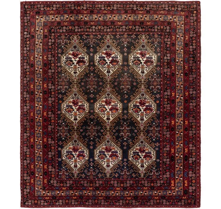 7' 8 x 8' 10 Meshkabad Persian Squar...