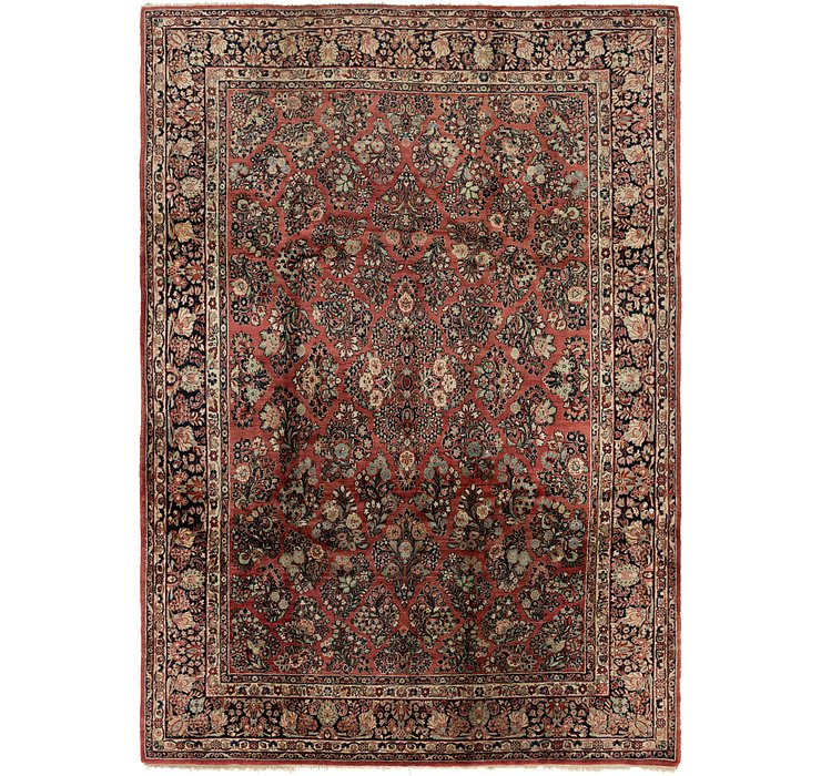 9' x 12' 4 Sarough Persian Rug