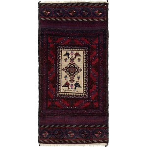 HandKnotted 2' 9 x 5' 6 Balouch Persian Rug