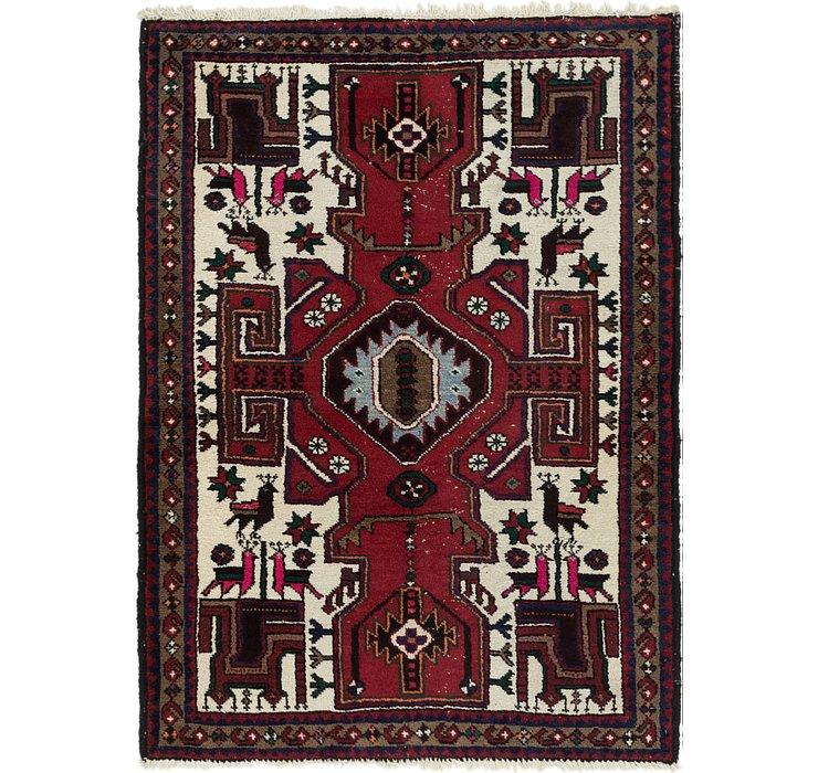 3' 7 x 4' 10 Hamedan Persian Rug