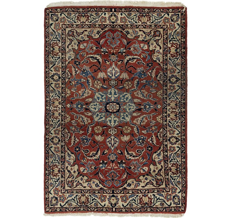 3' 7 x 5' 2 Isfahan Persian Rug