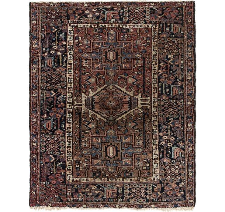 3' 8 x 4' 6 Gharajeh Persian Rug