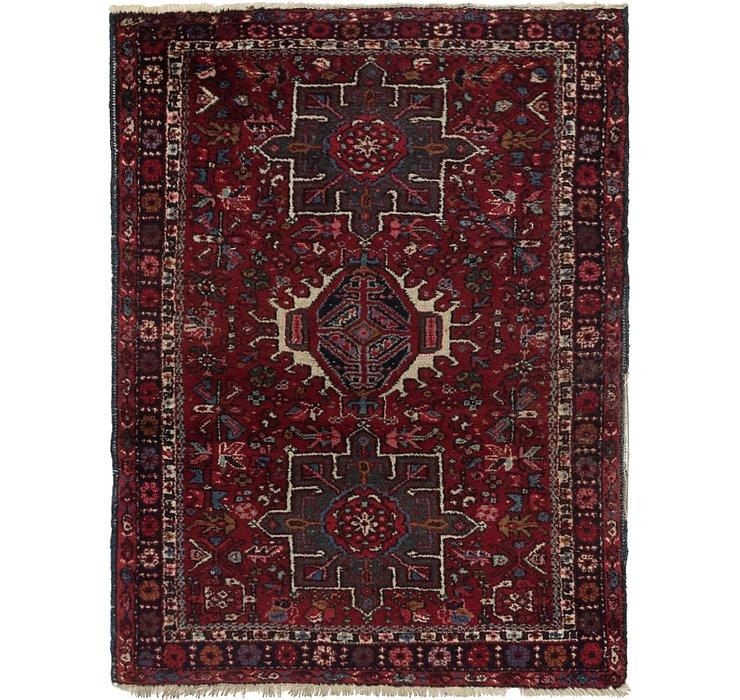 110cm x 142cm Gharajeh Persian Rug