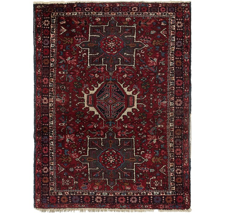 3' 7 x 4' 8 Karaja Persian Rug