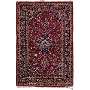 102cm x 147cm Kashan Persian Rug
