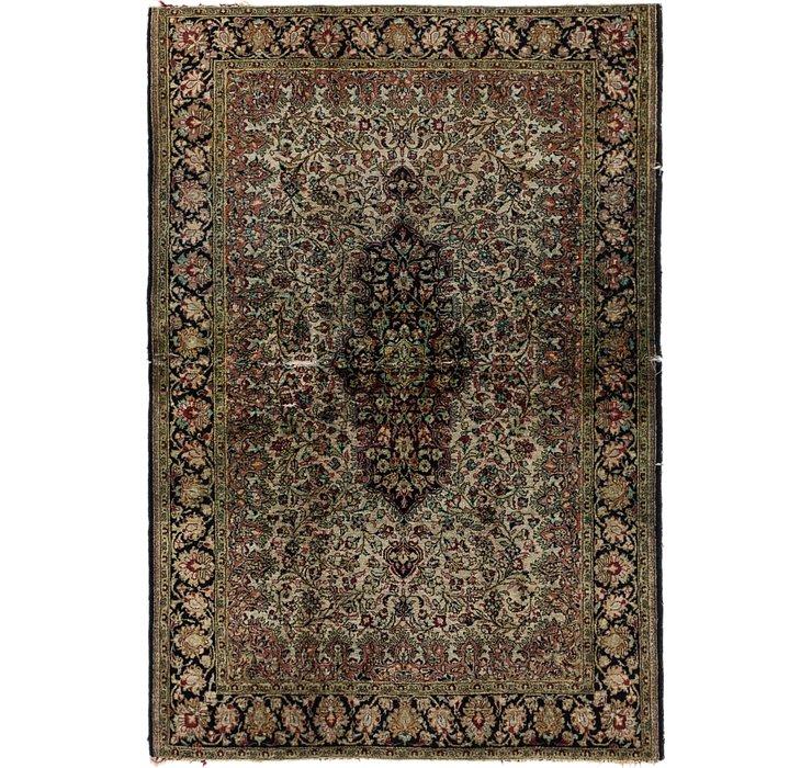 3' 7 x 5' 2 Qom Persian Rug