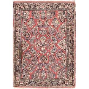 3' 4 x 4' 10 Sarough Persian Rug